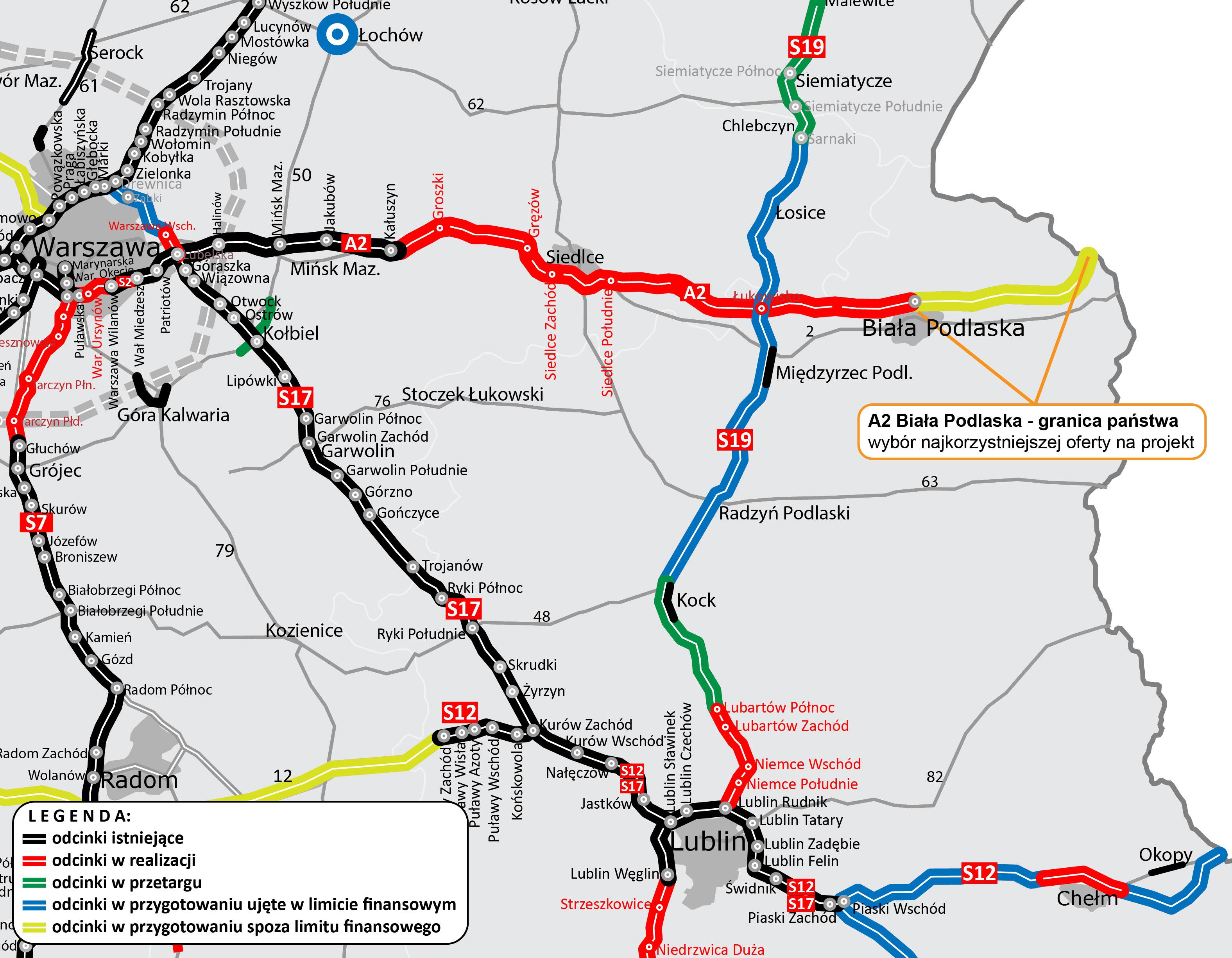 Biała Podlaska : Wybrano najkorzystniejszą ofertę na zaprojektowanie ostatnich 32 km autostrady A2 - Zdjęcie główne