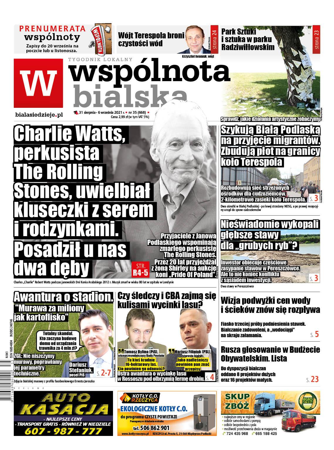 Charlie Watts, perkusista The Rolling Stones uwielbiał kluseczki z serem i rodzynkami. Posadził u nas dwa dęby - Zdjęcie główne