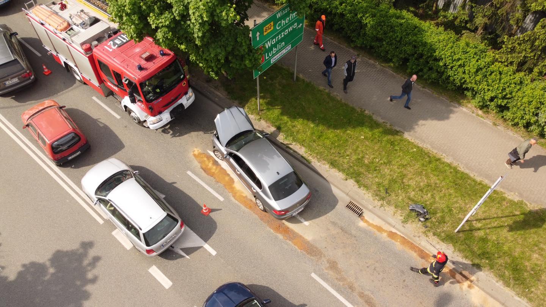 Stłuczka auta prezydenta Michała Litwiniuka. Nikt nie odniósł obrażeń - Zdjęcie główne