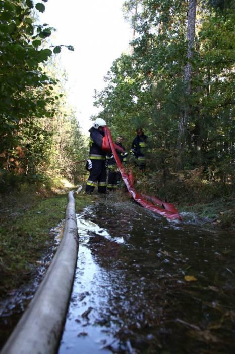 Powiat bialski : Strażacy ćwiczyli warianty pożarów. Udział wzięło kilkanaście bialskich jednostek - Zdjęcie główne
