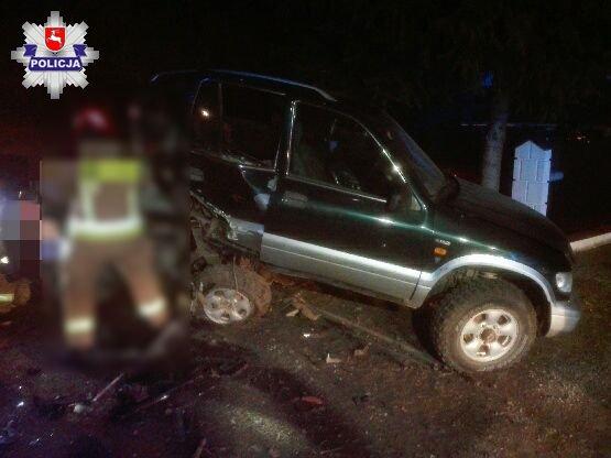 Po pijanemu wjechał w zaparkowany samochód w Skrobowie - Zdjęcie główne