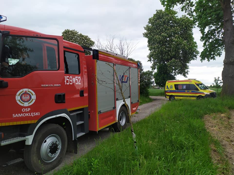 OSP Samoklęski rusza na ratunek. Alarm przypadkiem włączyło dziecko - Zdjęcie główne