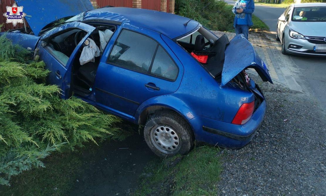 Pijany kierowca wjechał do rowu w Skrobowie - Zdjęcie główne
