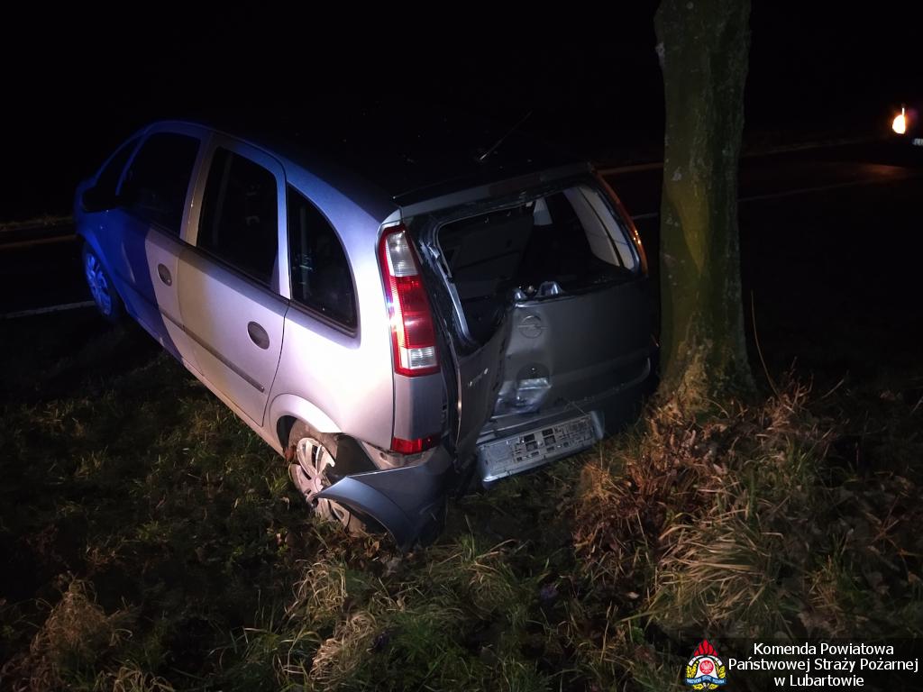 Opel uderzył w drzewo w Kolechowicach - Zdjęcie główne