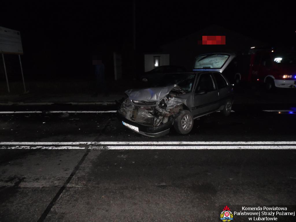 Kierująca Citroenem zabrana do szpitala po zderzeniu w Skrobowie - Zdjęcie główne
