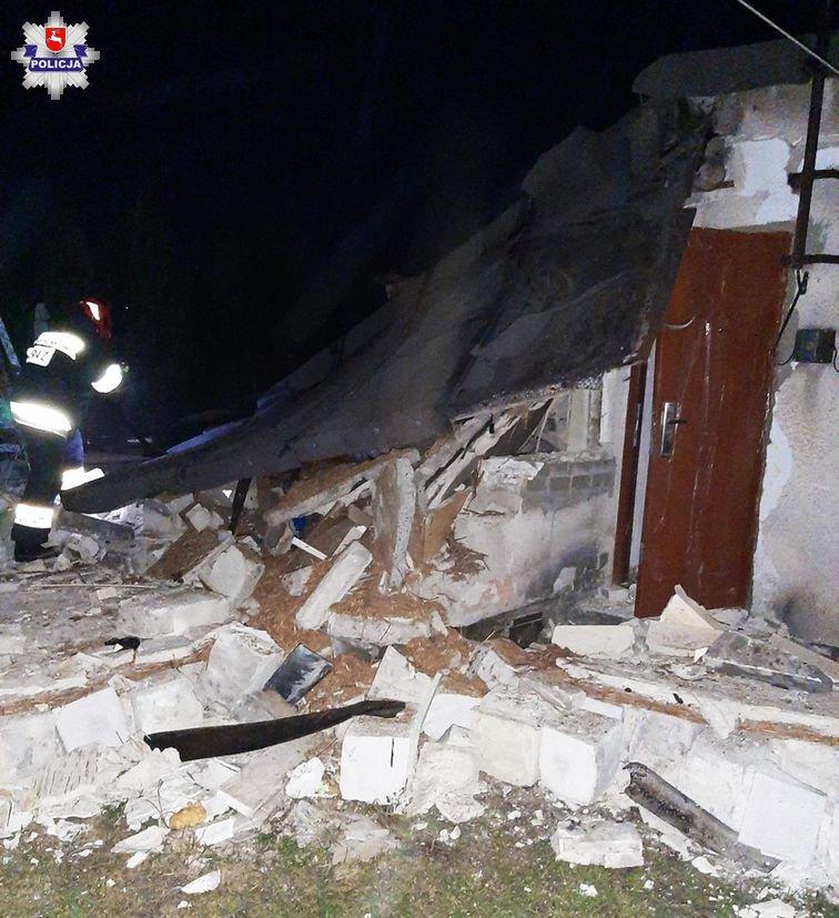 Wybuch gazu na ul. Hutniczej w Lubartowie. Ranny mężczyzna (AKTUALIZACJA) - Zdjęcie główne