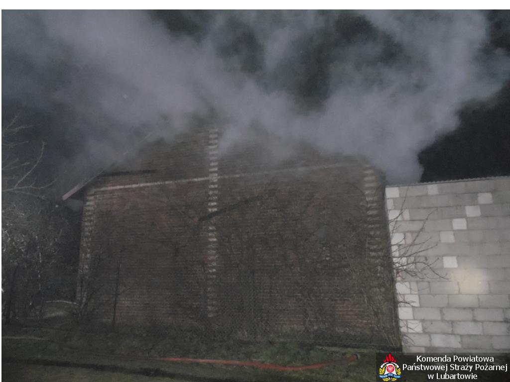 Pożar stodoły w Pałecznicy - Zdjęcie główne