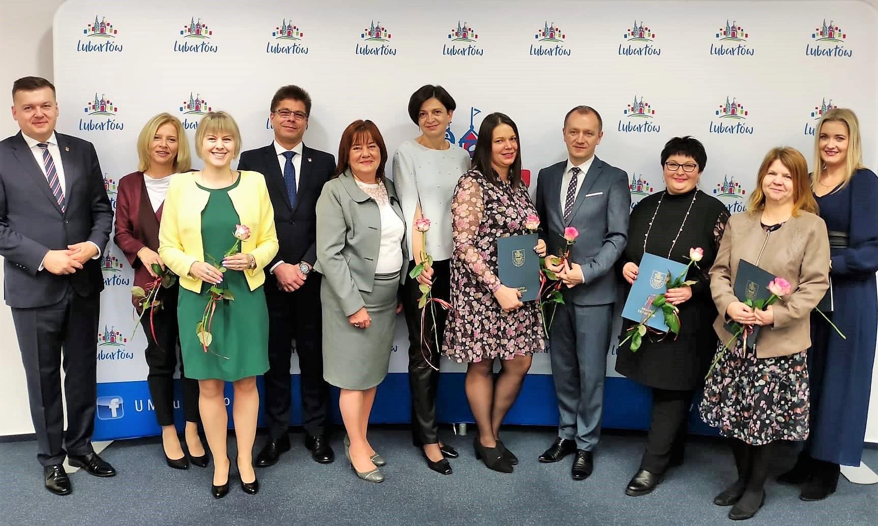 Nagrody burmistrza Lubartowa dla nauczycieli - Zdjęcie główne