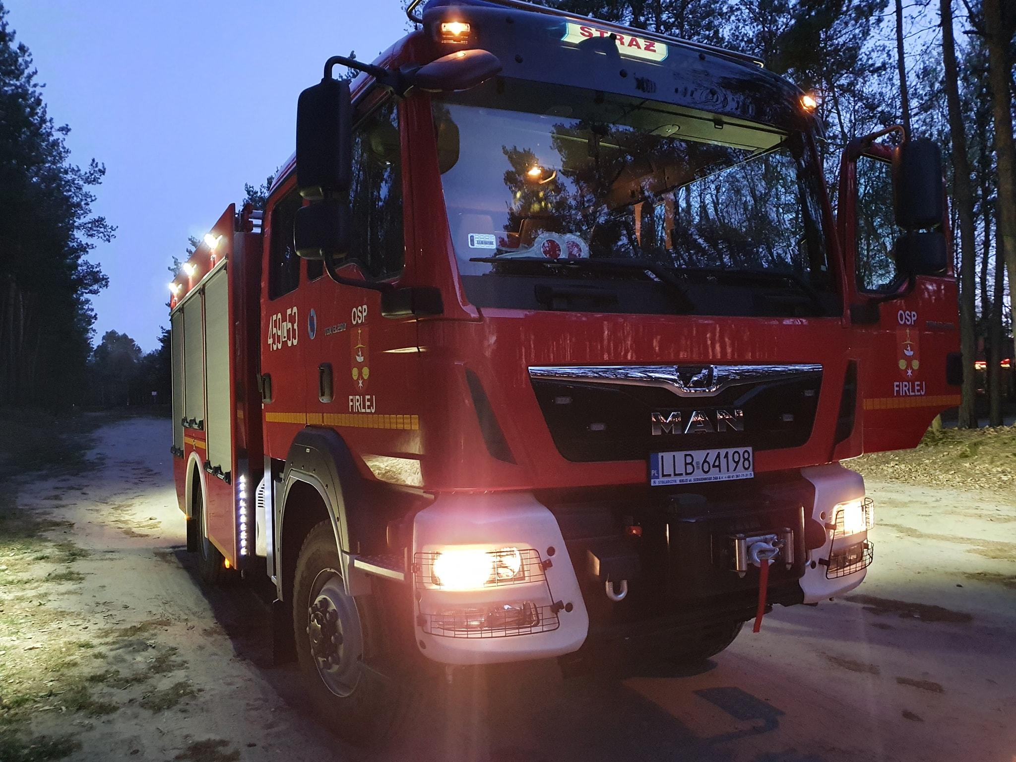 Pożar instalacji elektrycznej w domu w Firleju - Zdjęcie główne
