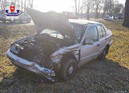 W Łukówcu zderzyły się dwa samochody - Zdjęcie główne