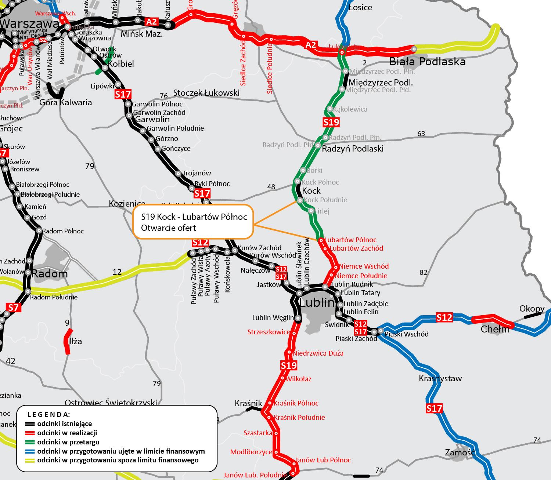 Budowa drogi ekspresowej S19 na odcinku Kock – Lubartów. Zgłosiło się aż dziewięciu oferentów - Zdjęcie główne