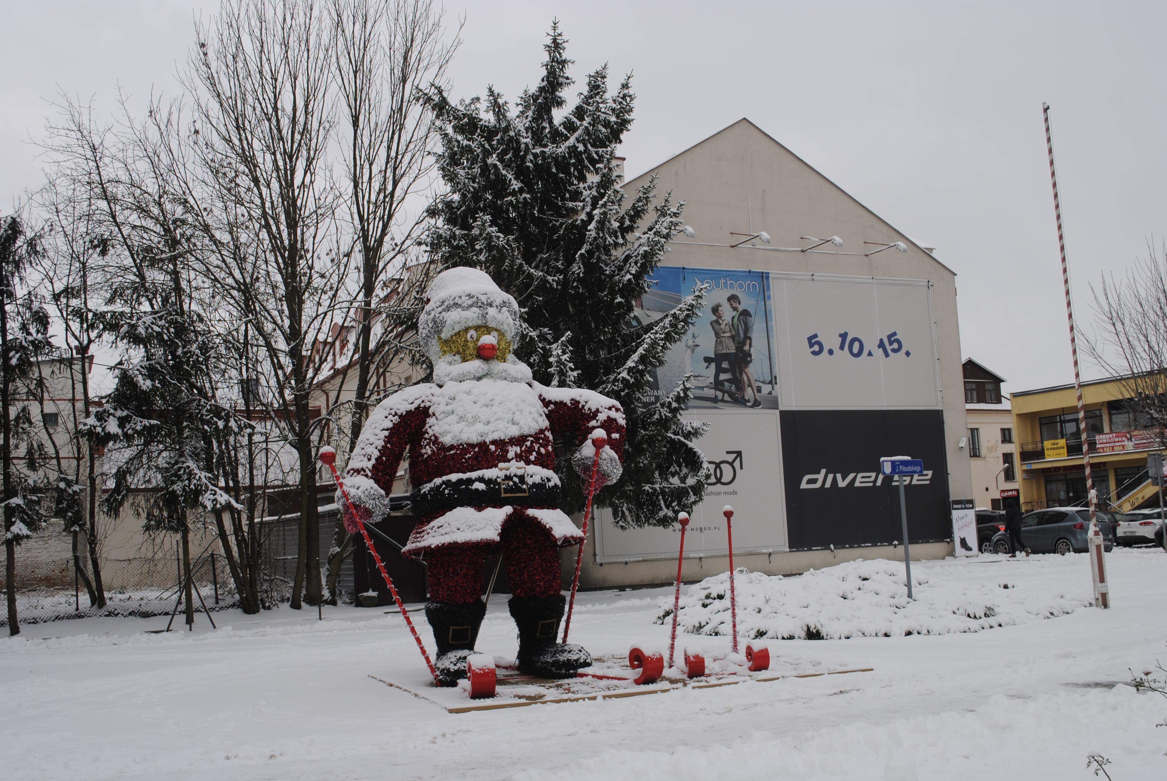 Zima w Lubartowie. Wreszcie miasto w śniegu - Zdjęcie główne