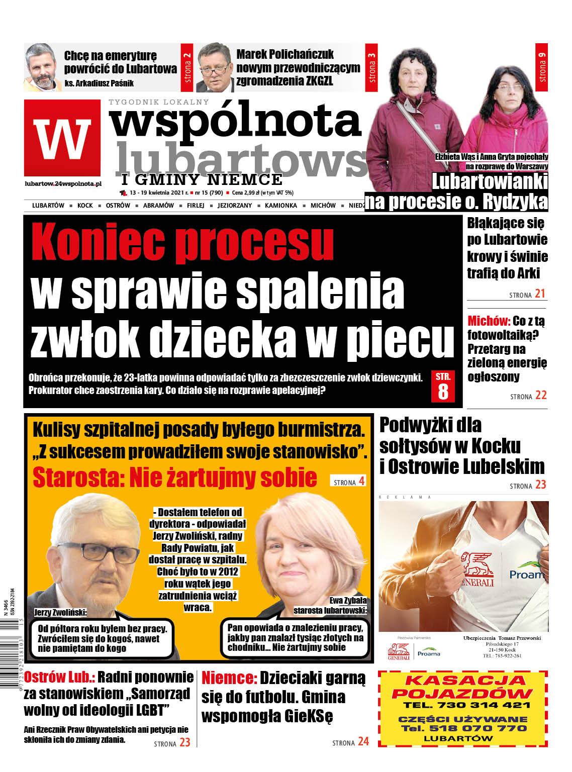 Gmina Lubartów: Koniec procesu w sprawie spalenia zwłok dziecka w piecu - Zdjęcie główne