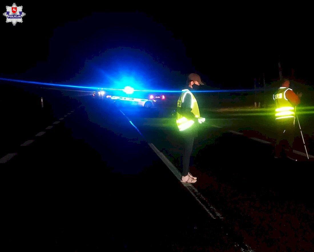 Śmiertelne potrącenie pieszego w Woli Lisowskiej - Zdjęcie główne