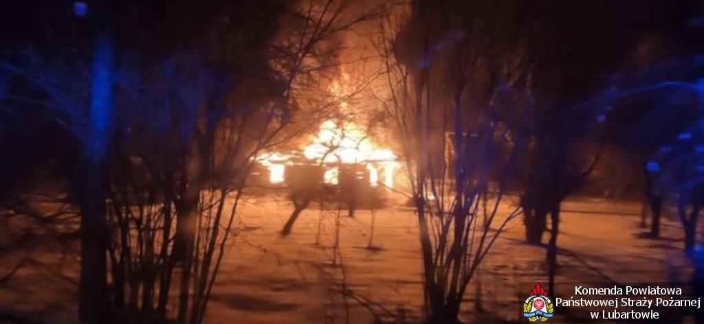 Palił się dom w Sobolewie - Zdjęcie główne