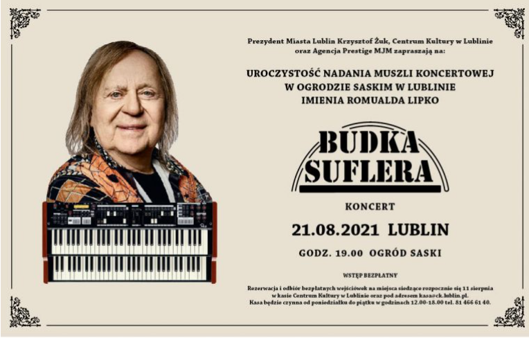 Lublin: Uczczą pamięć Romualda Lipko. Budka Suflera zagra koncert, Muszla Koncertowa dostanie imię - Zdjęcie główne