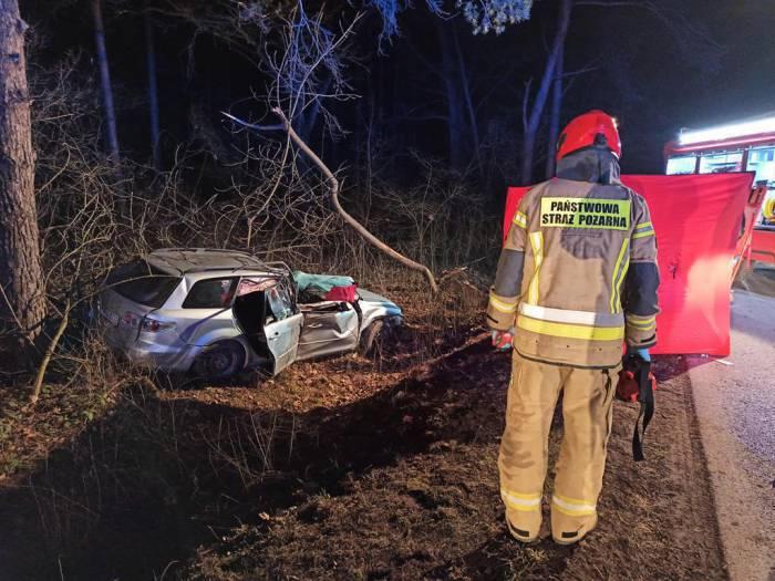 Kobieta zginęła w wypadku w Wólce Polanowskiej. Dyżurny strażak tłumaczy się z wyboru jednostki do akcji - Zdjęcie główne