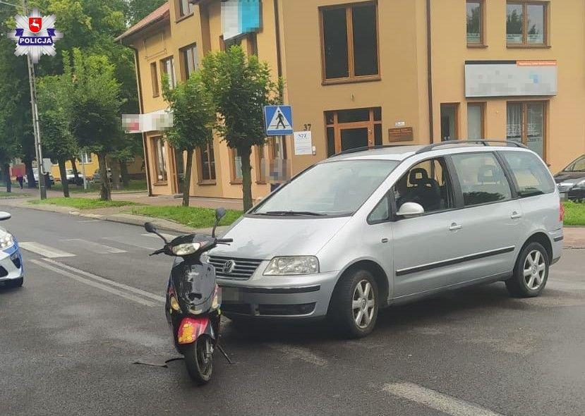 Opole Lubelskie: Potrącenie motorowerzystki - Zdjęcie główne
