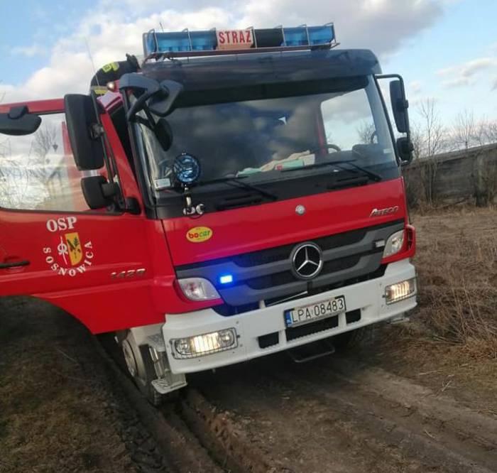 Gmina Sosnowica: Ktoś podpalił łąkę i uciekł  - Zdjęcie główne