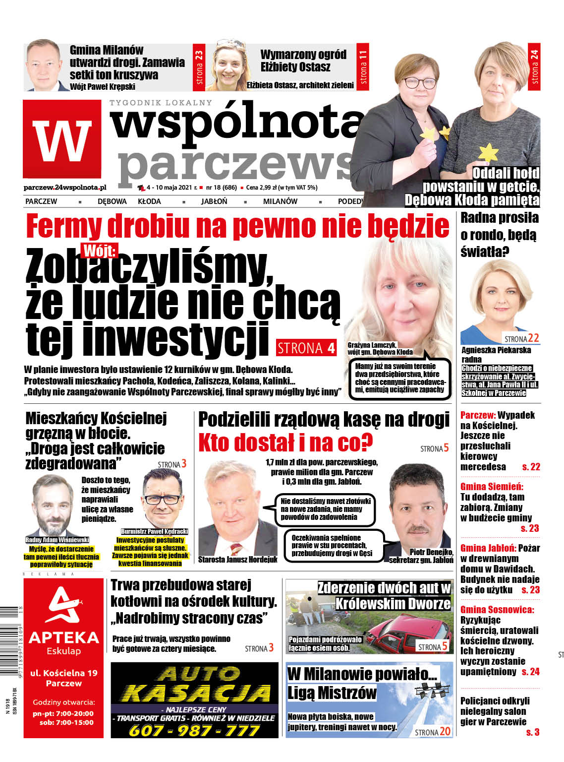 """Powiat parczewski: Fermy drobiu na pewno nie będzie. Mieszkańcy Pachola dziękują """"Wspólnocie"""" - Zdjęcie główne"""