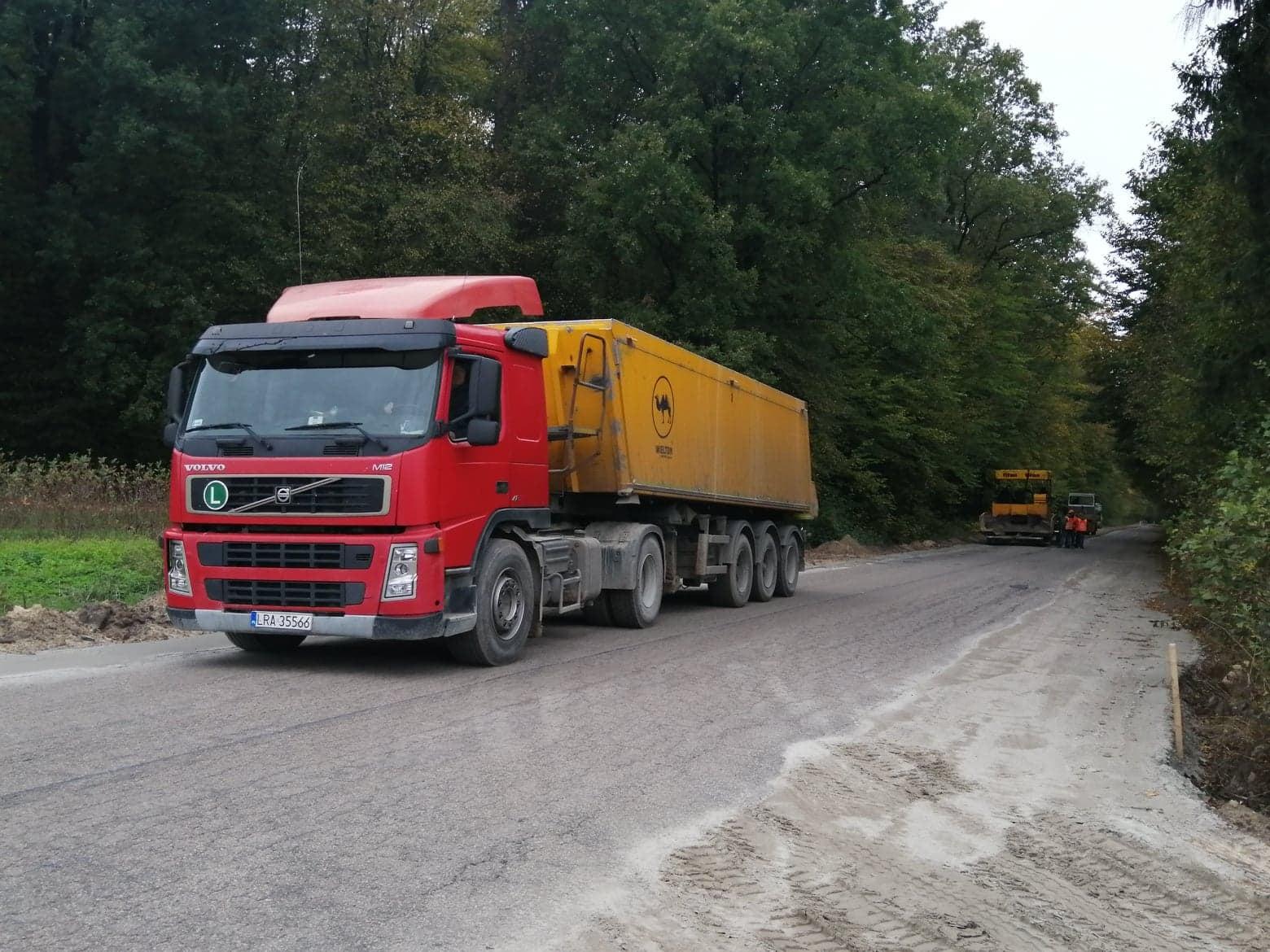 Trwa przebudowa drogi Radzyń -Wohyń - Zdjęcie główne