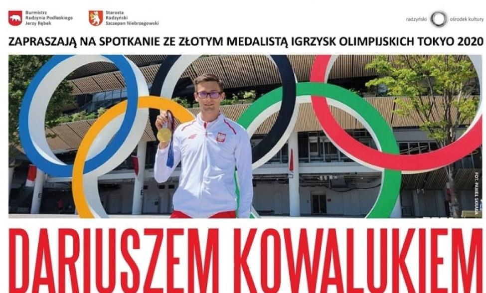 Zaproszenie na spotkanie z Dariuszem Kowalukiem, medalistą mistrzostw olimpijskich 2020 rodem z Komarówki Podlaskiej  - Zdjęcie główne