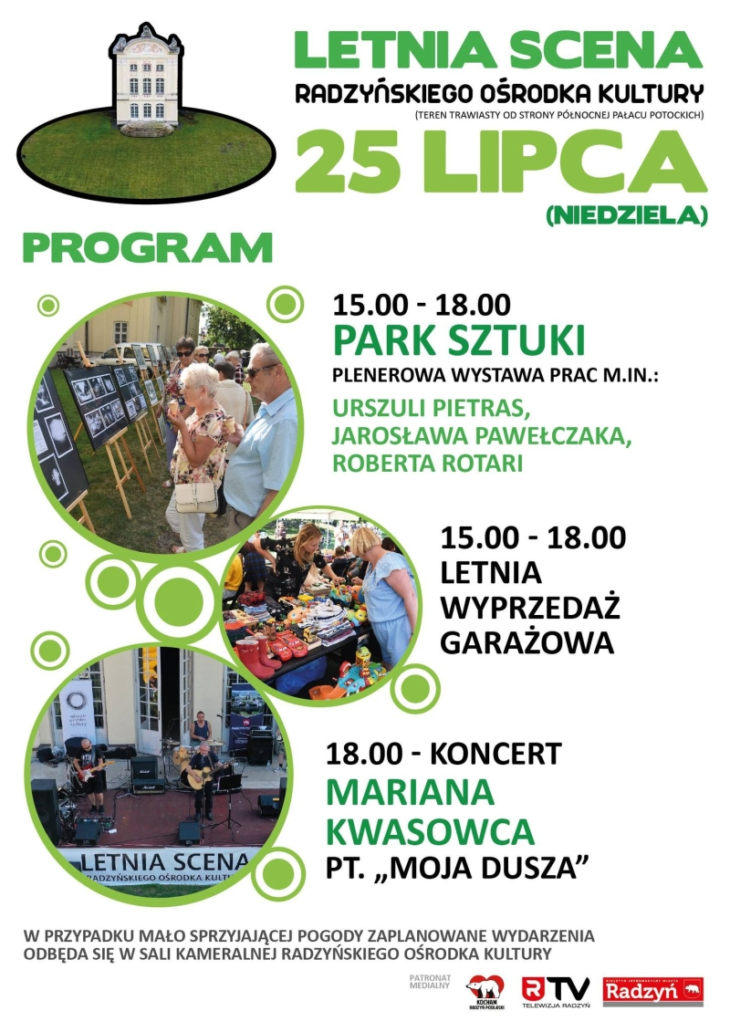 Wystawa malarstwa, wyprzedaż garażowa i koncert radzyniaka - to atrakcje Letniej Sceny Kultury 25 lipca  - Zdjęcie główne