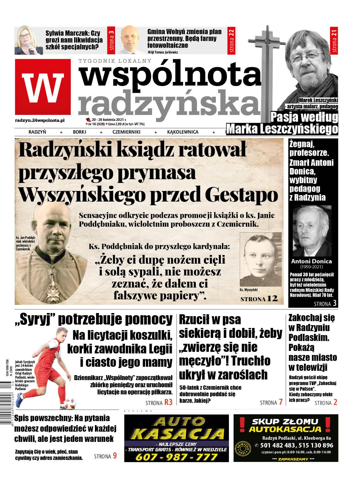Radzyński ksiądz ratował przyszłego prymasa Stefana Wyszyńskiego przed Gestapo - Zdjęcie główne
