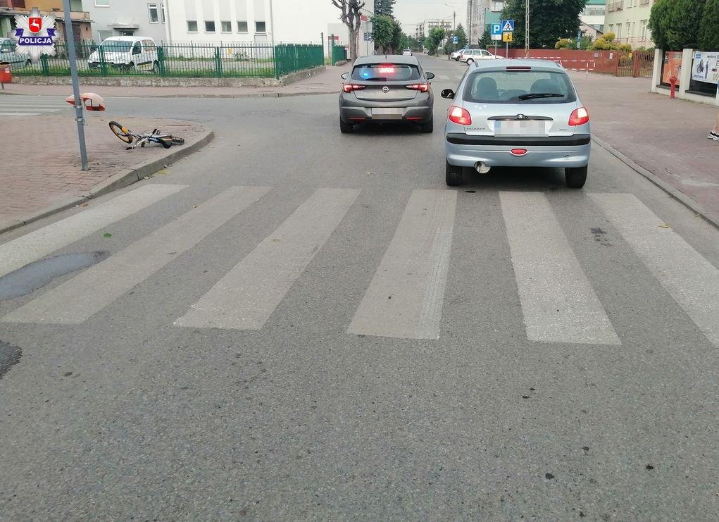 Radzyń Podlaski: Potrącenie 7-latka jadącego rowerkiem na przejściu - Zdjęcie główne