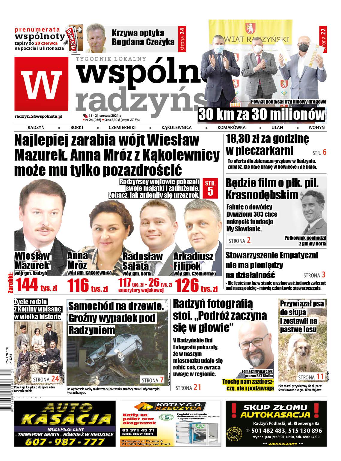 Radzyńscy wójtowie pokazali dochody. Najlepiej wynagradzany jest Wiesław Mazurek - Zdjęcie główne