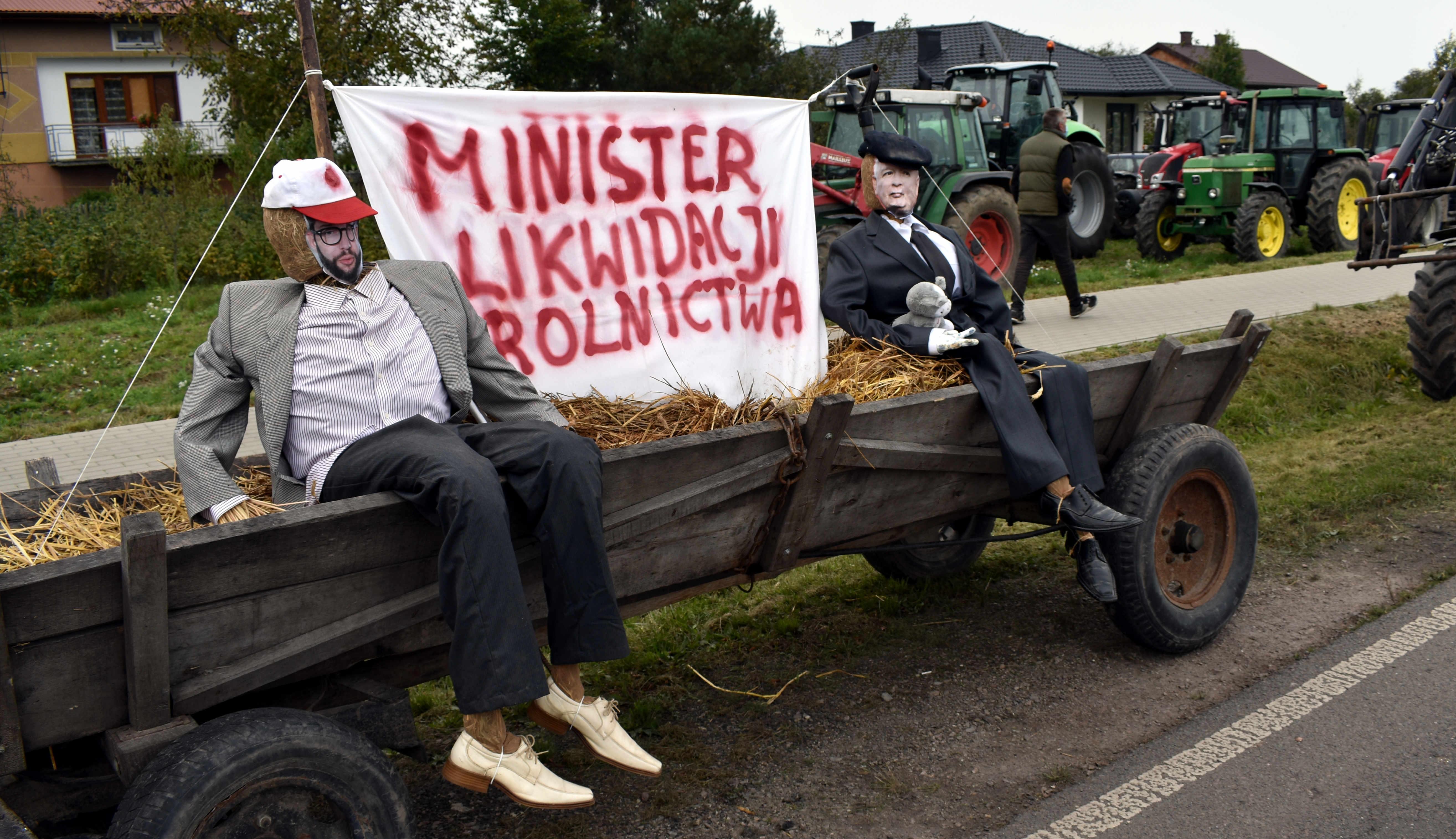 ULAN. Kukła Kaczyńskiego z kotem na wozie  (ZDJĘCIA) - Zdjęcie główne