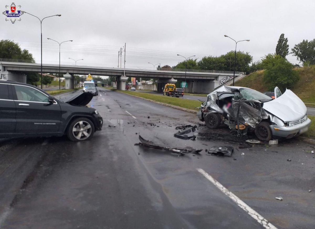 Lublin: Straciła panowanie nad autem i zderzyła się z innym. Policja szuka świadków wypadku - Zdjęcie główne