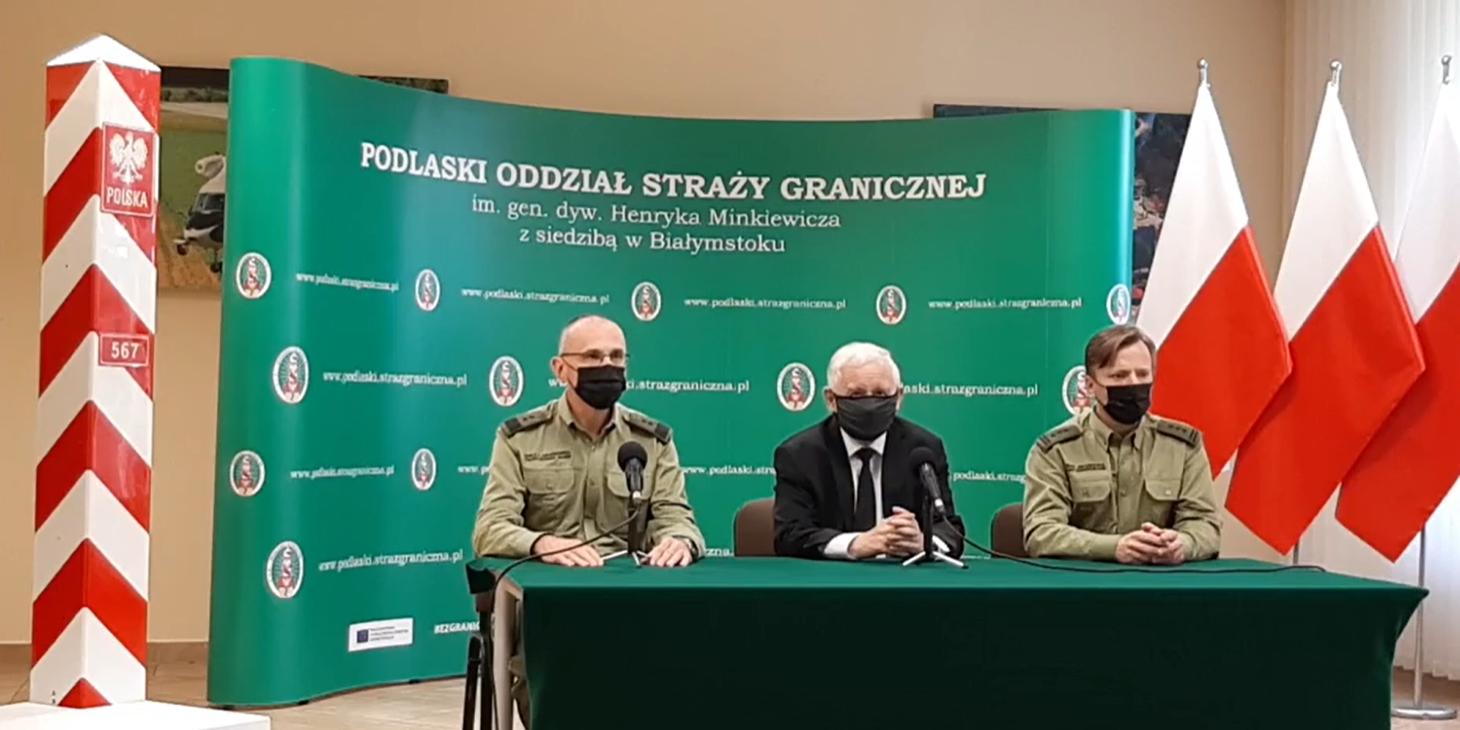 Stan wyjątkowy: Jarosław Kaczyński zapowiada budowę zapory na granicy - Zdjęcie główne