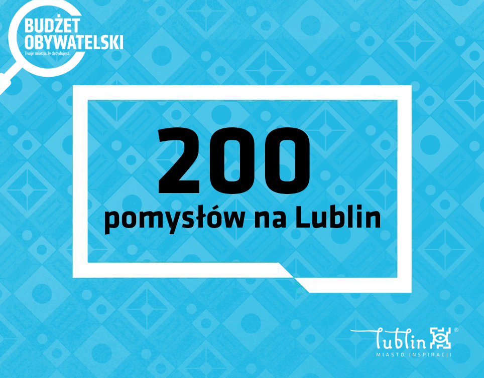 VIII edycja Budżetu Obywatelskiego w Lublinie. Koniec naboru projektów - Zdjęcie główne