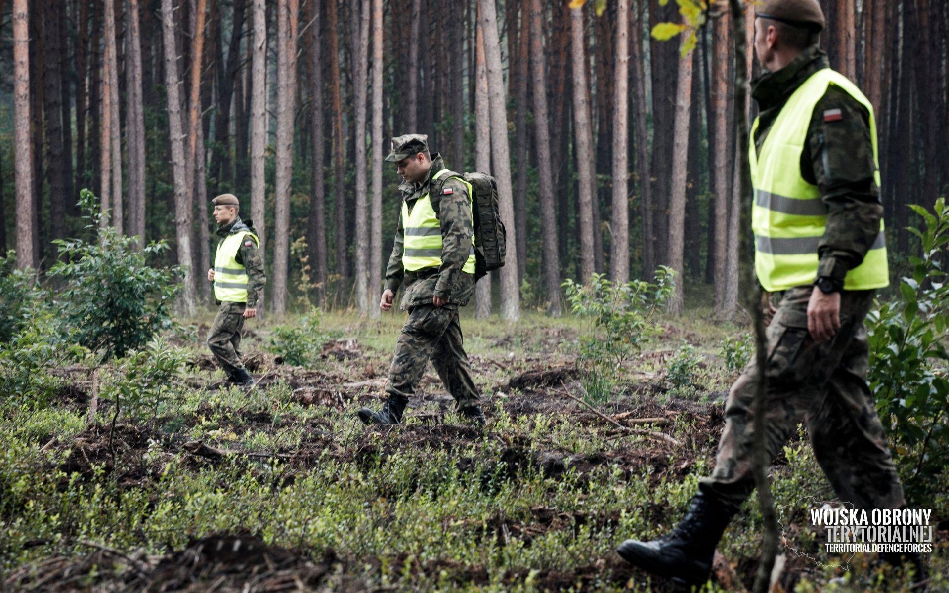 Lubelscy terytorialsi szukali rozbitego myśliwca i pilota - Zdjęcie główne