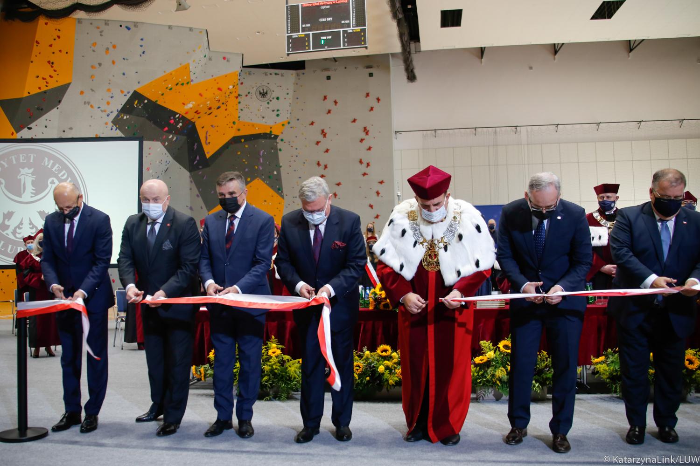 Lublin: Uniwersytet Medyczny ma nową halę. Na oficjalnym otwarciu był m.in. minister zdrowia [GALERIA] - Zdjęcie główne