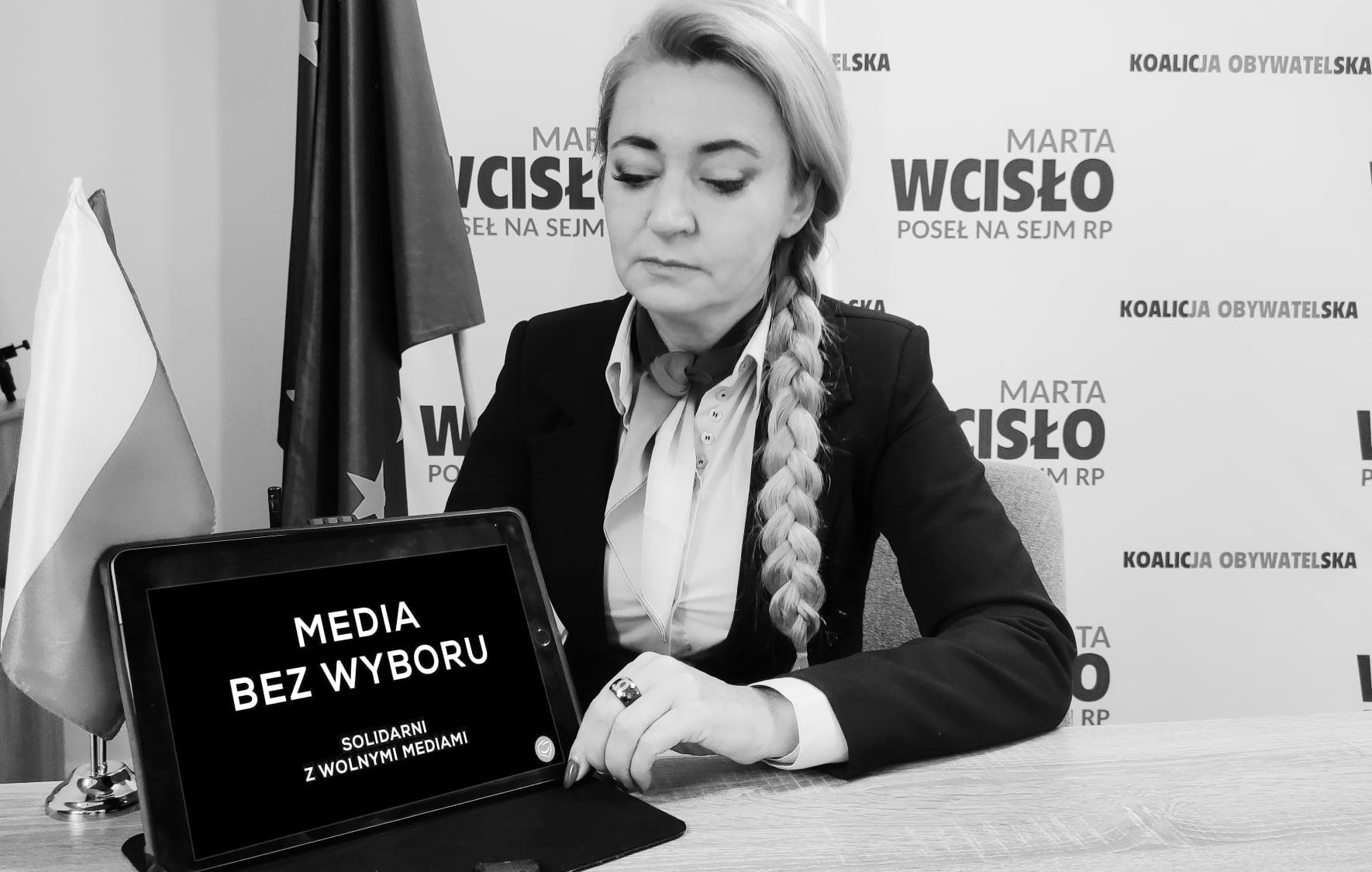 """Marta Wcisło przeciwko podatkowi od mediów. """"Dlaczego Rząd nie zabierze tych pieniędzy Telewizji Polskiej?""""  - Zdjęcie główne"""