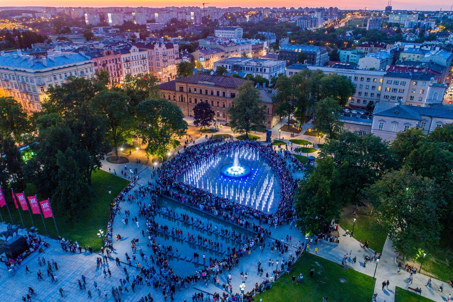 Lublin: wracają pokazy na fontannie multimedialnej na Placu Litewskim. Znamy harmonogram - Zdjęcie główne