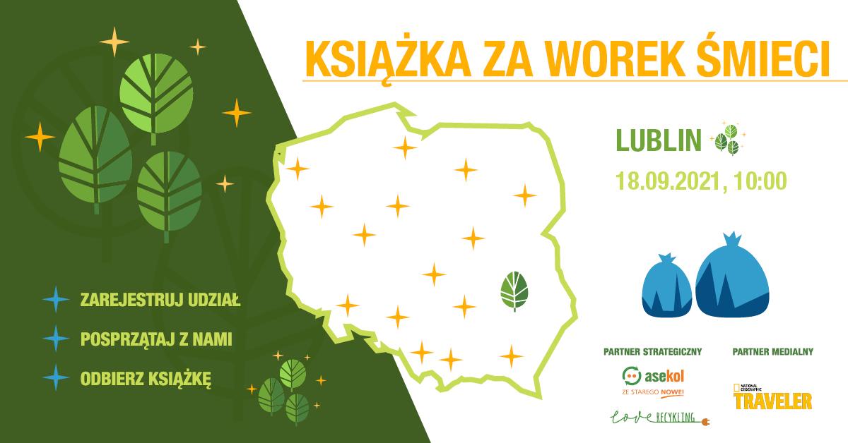 Lublin: Rozdadzą książki za sprzątanie. Miasto włącza się w ogólnopolską akcję - Zdjęcie główne