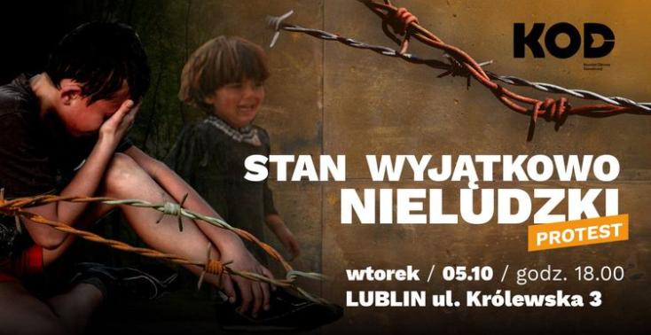 """Lublin: We wtorek protest """"Stan wyjątkowo nieludzki"""". Domagają się rozwiązania kryzysu na granicy - Zdjęcie główne"""