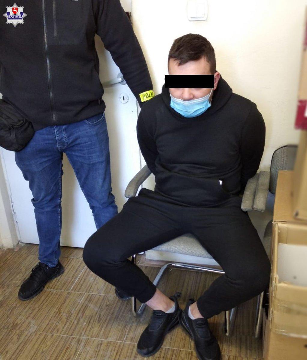 Lublin: 22-latek potrącił policjanta, który chciał go zatrzymać. Odpowie za napaść - Zdjęcie główne