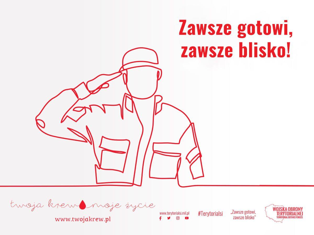 WOT pomaga Regionalnym Centrom Krwiodawstwa i Krwiolecznictwa. Do akcji dołączyli też lubelscy terytorialsi - Zdjęcie główne