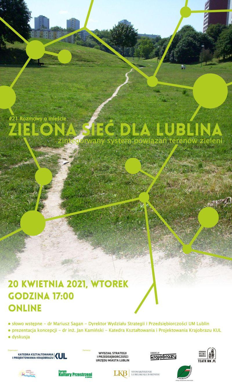 Powstała koncepcja Zielonej Sieci Lublina. We wtorek prezentacja - Zdjęcie główne