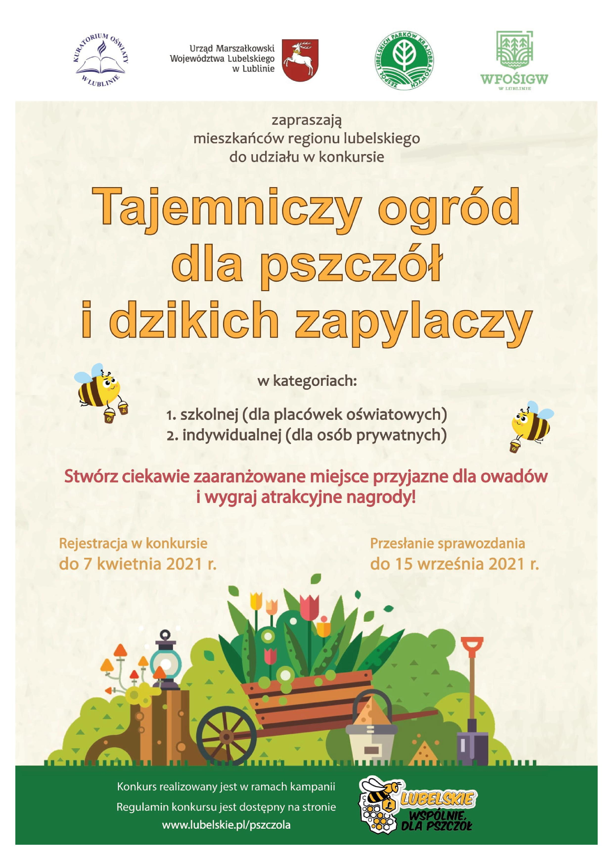 """Konkurs """"Tajemniczy ogród dla pszczół i dzikich zapylaczy"""" - Zdjęcie główne"""