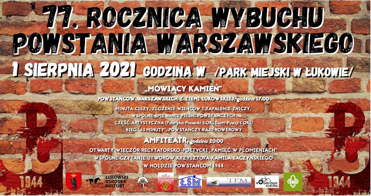 Łukowskie obchody 77. rocznicy wybuchu Powstania Warszawskiego - Zdjęcie główne