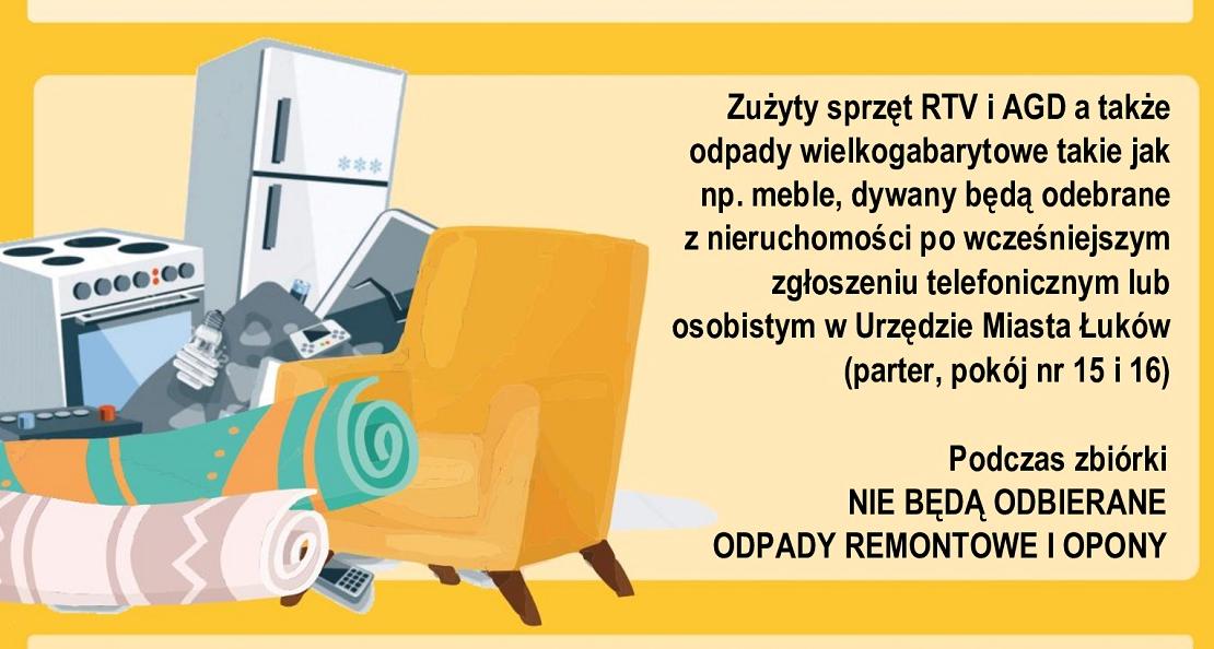 """ŁUKÓW. Darmowa zbiórka """"gabarytów""""  - Zdjęcie główne"""