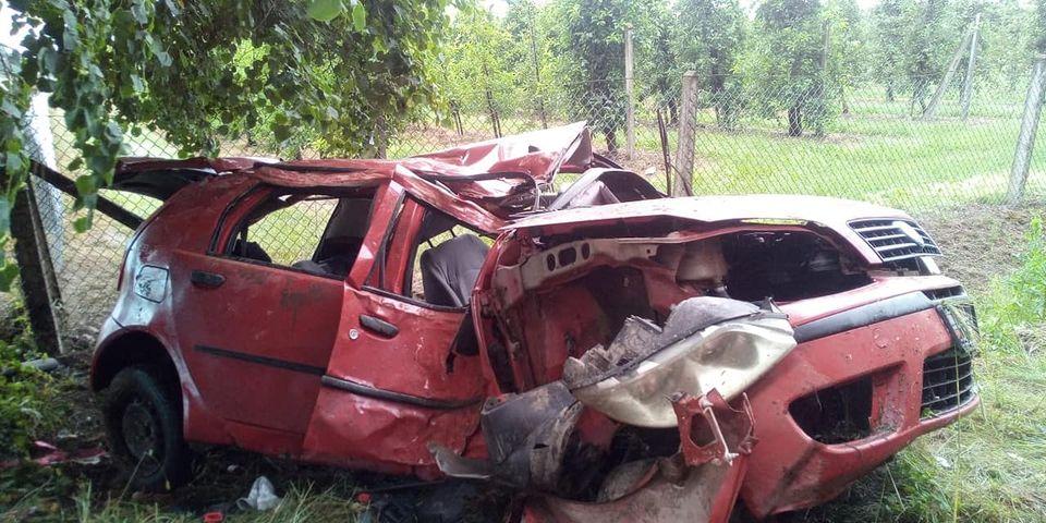 KRZYWDA. Fiat uderzył w drzewo (ZDJĘCIA) - Zdjęcie główne