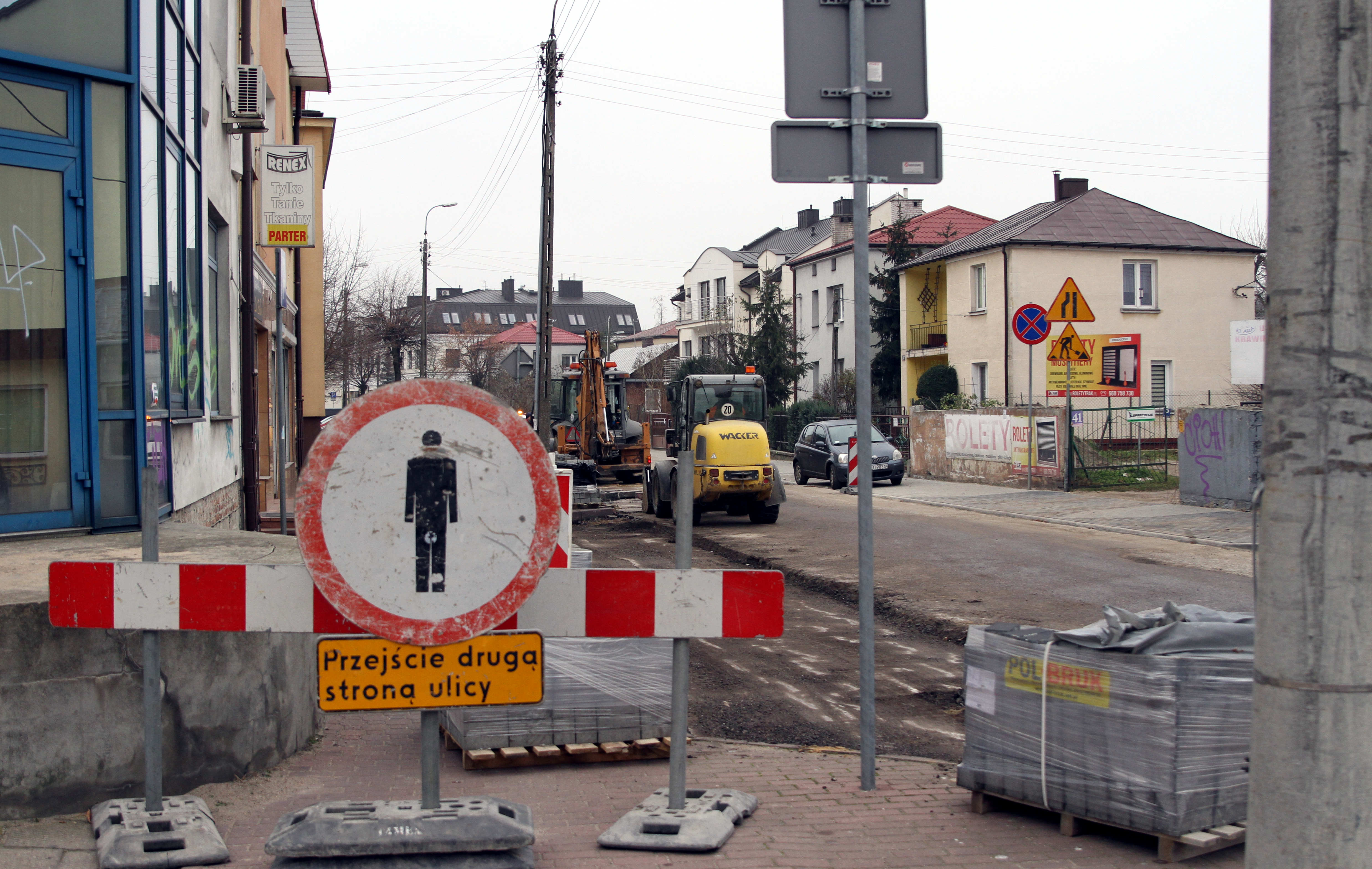 Trwają remonty  w centrum Łukowa  - Zdjęcie główne