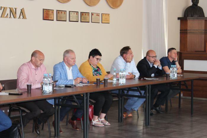 Spotkanie z przedstawicielami Stowarzyszenia Kupców Ziemi Łukowskiej - Zdjęcie główne