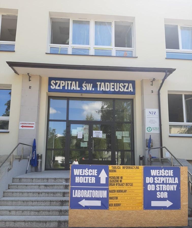 ŁUKÓW.  Remonty w szpitalu. Na stole 4,4 mln zł (ZDJĘCIA) - Zdjęcie główne